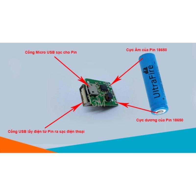 Bảng giá Mạch Sạc Pin Dự Phòng Mini 5V-600mAh có led báo sạc