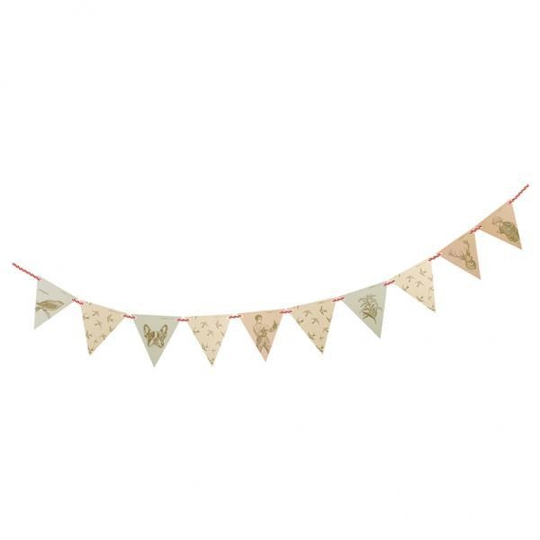 Giá Khuyến Mại MagiDeal Vintage Bunting Banner Garland Home Garden Party Flag Hanging Decoration – intl