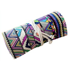 Makiyo Nhiều Màu Sắc Nghệ Sĩ Túi Ốp Lưng Giữ Hộp 36 Lỗ Đựng Vải Bút Cuộn Túi Màn Văn Phòng Phẩm-quốc tế