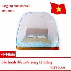 Màn chụp tự bung BÌNH MINH gấp gọn loại 2 cửa 1m8 x 2m (Loại đỉnh rộng) – Hàng Việt Nam