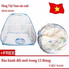 Màn chụp tự bung gấp gọn chống muỗi đốt 1m8 x 2m siêu bền (Loại đỉnh rộng) – Hàng Việt Nam