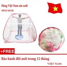 Màn chụp tự bung gấp gọn chống muỗi đốt loại 1 cửa 1m8 x 2m siêu bền (Loại đỉnh rộng) – Hàng Việt Nam