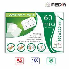 Màng Ép Plastic Media 16 x 22cm (A5) 60mic 100 Tờ – Hàng Nhập Khẩu