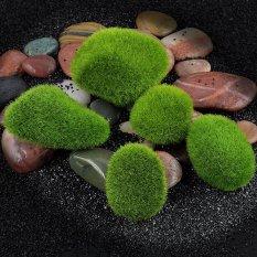 Marimo Moss Ball Artificial Grass Stones Turf Mini Fairy Garden Micro Terrarium Green 2.2inch - intl