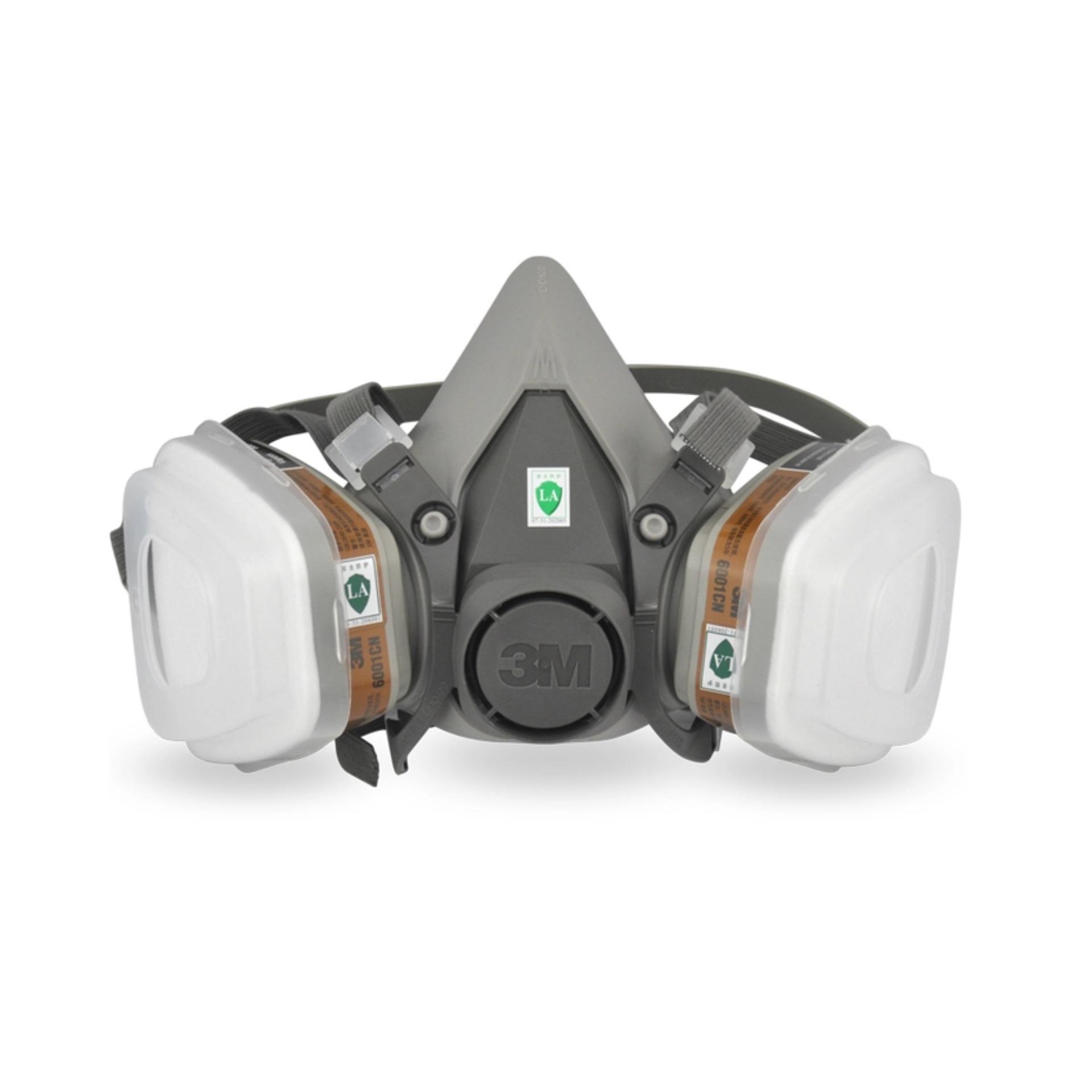 Mẫu sản phẩm Mặt nạ phòng độc chống cháy, hỏa hoạn chuyên dụng kèm 2 phin lọc cao cấp Dcr 3M (Xám)