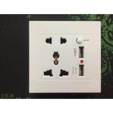 Ổ cắm điện sinoamigo 2 cổng đa năng + 2 cổng Sạc USB SW-1UB