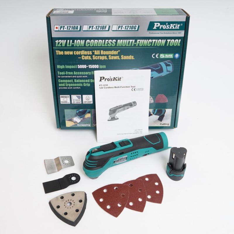 Máy cắt chà đa năng dùng pin Pro'skit PT-1210F