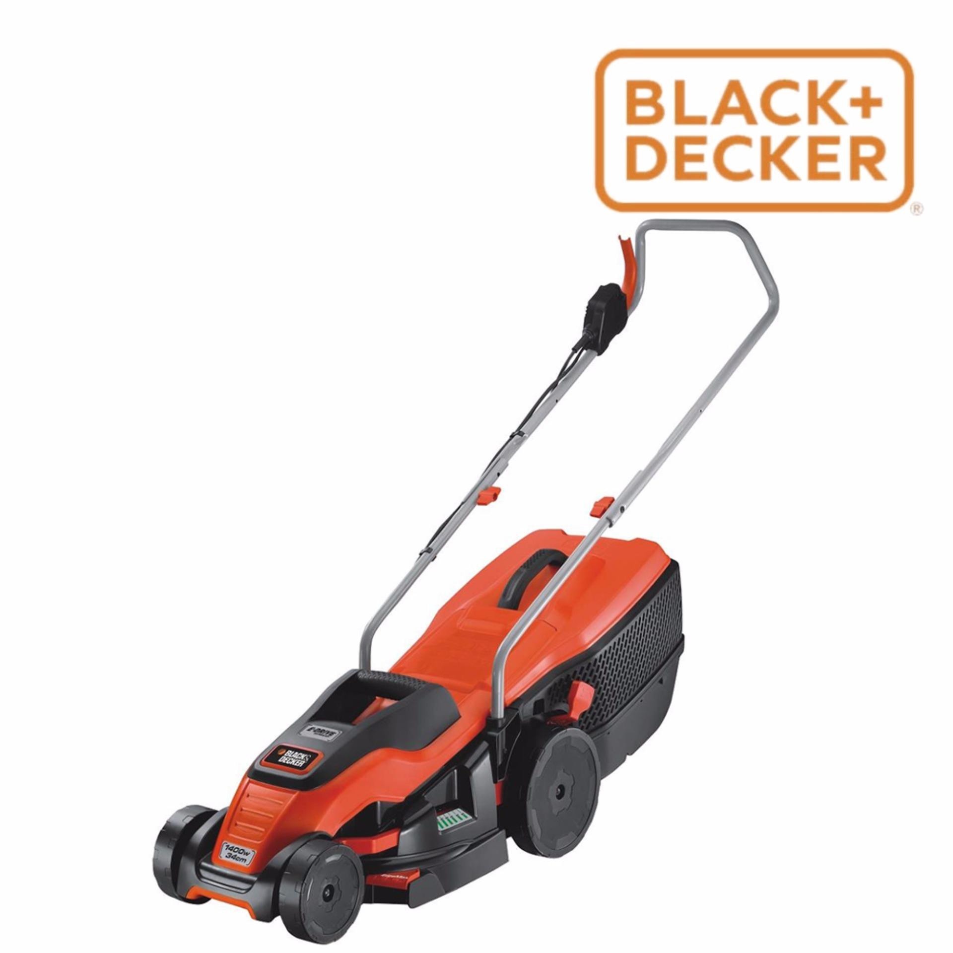 Máy cắt cỏ xe đẩy chạy điện Black & Decker EMAX34-B1 1400W 34cm