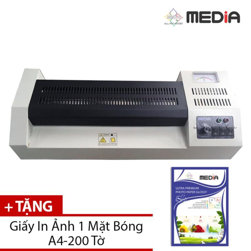 Máy Ép Plastic Media MD320 Khổ A3 + Tặng Giấy In Ảnh A4 200 Tờ