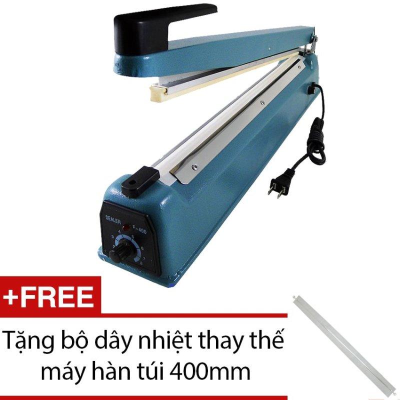 Máy hàn túi nilon dập tay Impulse Sealer 40cm Vĩnh Khang - shop PFS-400 + Tặng bộ dây nhiệt thay thế máy hàn túi 400mm