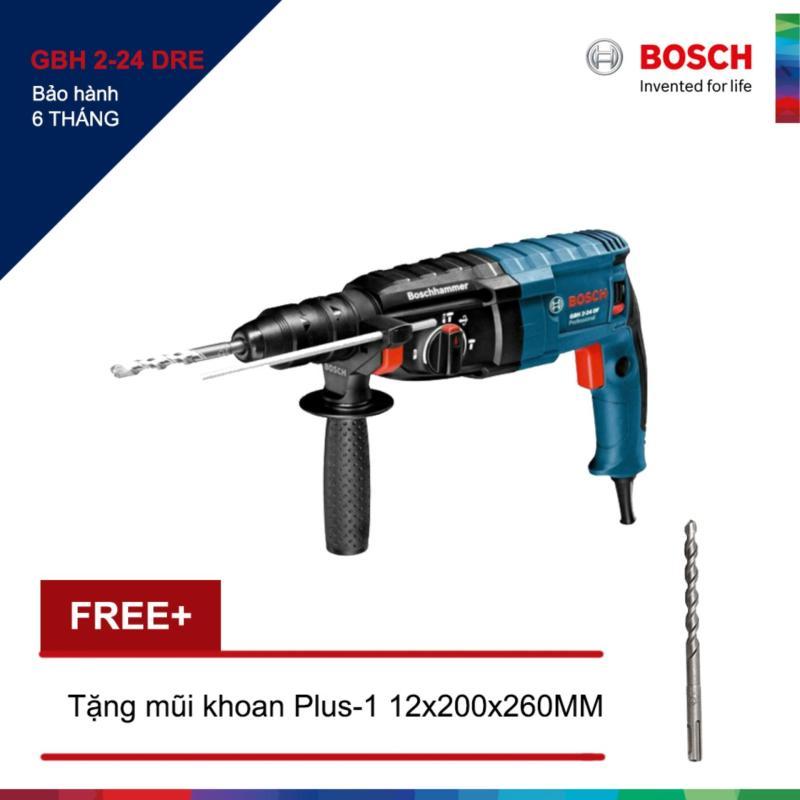Máy khoan Bosch GBH 2-24 DRE + Tặng 1 Mũi khoan bê tông Plus-1 12x200/260MM