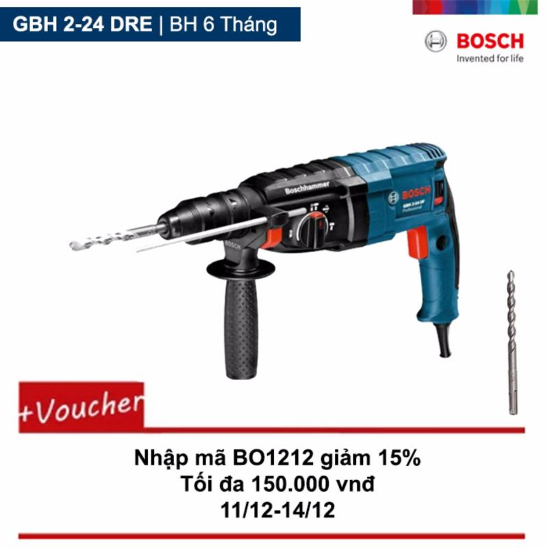 Máy khoan Bosch GBH 2-24 DRE + Tặng 1 Mũi khoan bê tông Plus-1 5x50/110MM