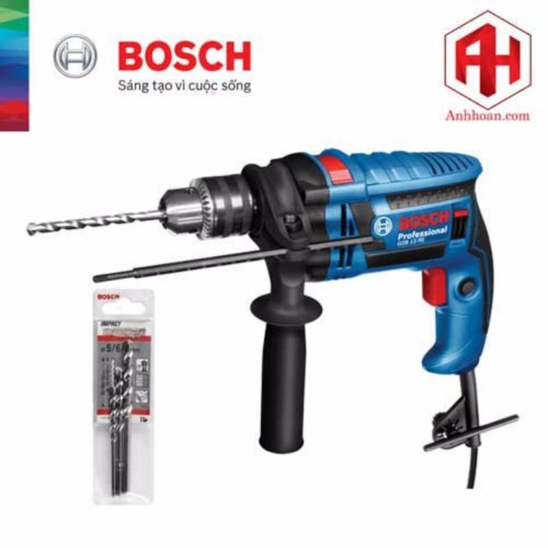 Máy Khoan Bosch GSB 13 RE tặng kèm 3 mũi khoan tường (5x85, 6x100, 8x120)