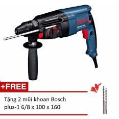 Máy khoan búa Bosch GBH 2-26 DRE Professional (Xanh) + Tặng 2 mũi khoan Bosch plus-1