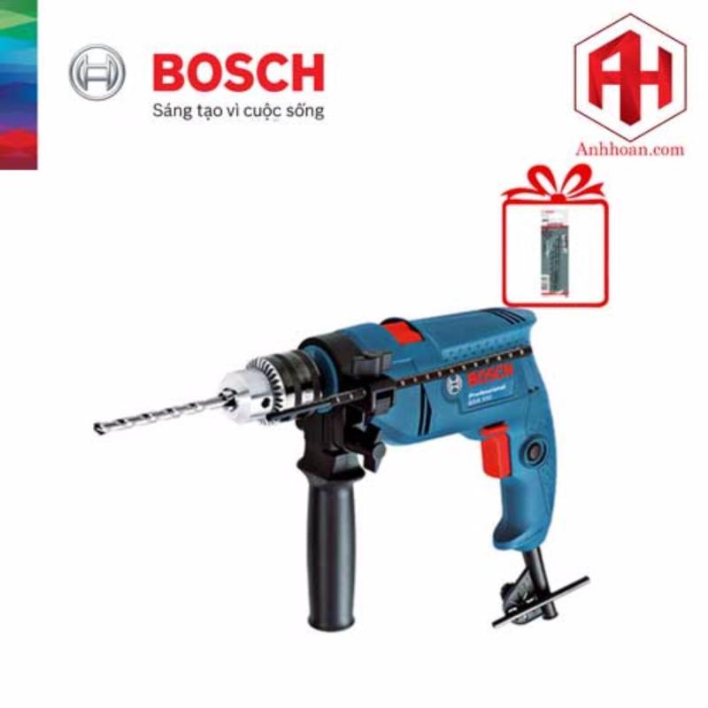 Máy khoan động lực Bosch GSB 550 tặng 3 mũi khoan tường 5/6/8mm