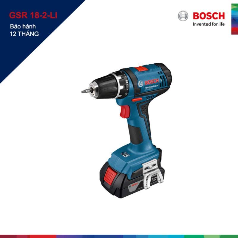 Máy khoan và vặn vít dùng pin Bosch GSR 18-2-LI (Xanh)