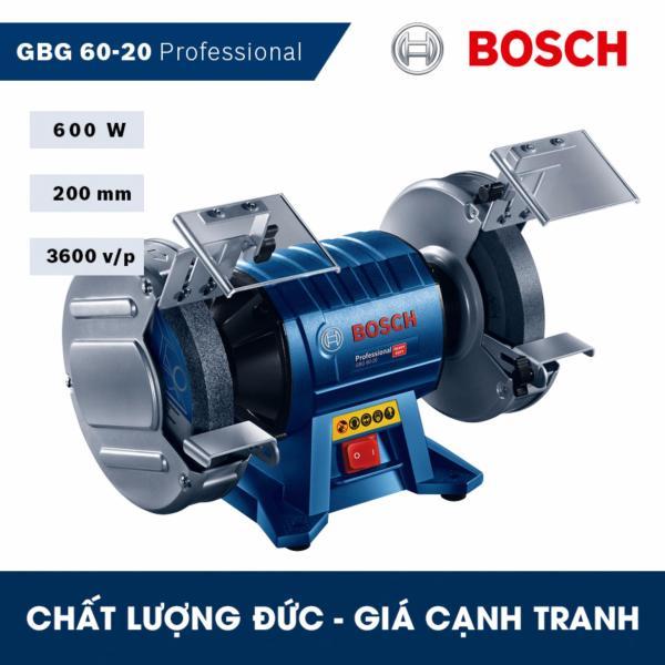 Máy mài để bàn hai đá Bosch GBG 60-20 Professional - HEAVY DUTY - Hãng phân phối chính thức