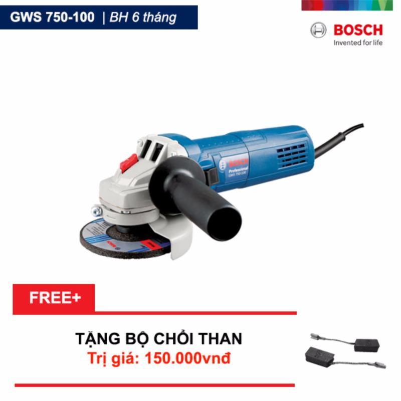 Máy Mài Góc Bosch GWS 750-100 Tặng bộ chổi than