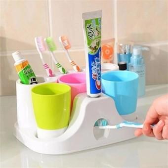 Máy nhả kem đánh răng tự động tặng kèm 3 cốc đánh răng