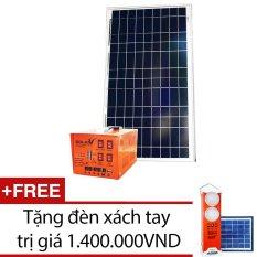 Máy phát điện năng lượng mặt trời SolarV SV COMBO-35S (Cam) + Tặng 1 đèn xách tay