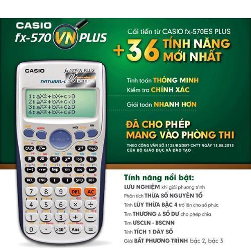 Máy tính Casio FX-570VN PLUS ( xám )