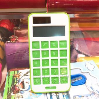 Máy tính để bàn , cầm tay dùng năng lượng mặt trời màu xanh lá dànhcho học sinh và các bé (7x0.1x13)...