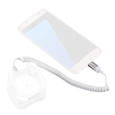 Micro USB 2.0 To RJ11 Anti-Theft Security Retractable Coiled Cable For Android Phones Display Stand - intl