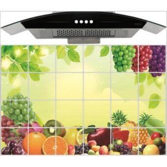 Miếng dán giữ nhiệt nhà bếp hình hoa quả size lớn 60x90cm