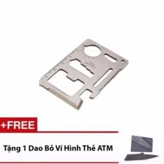 Miếng Thép Kĩ Thuật Đa Năng - MBAC (Bạc) + 1 Bộ Dụng cụ Bỏ Túi Hình Thẻ ATM