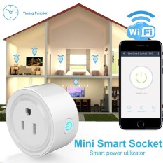 Mini WiFi Smart Remote Control Timer Switch Power Socket Outlet US Plug White - intl