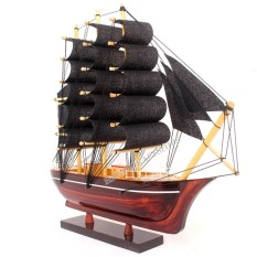 Mô hình thuyền nhỏ màu đen (dài 25cm)