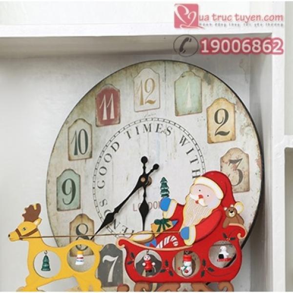 Giá Sốc Mô hình xe tuần lộc ông già Noel bằng gỗ