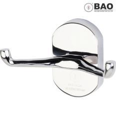 Móc áo 2 chấu gắn trên tường BAO – BN1090 (Inox 304)