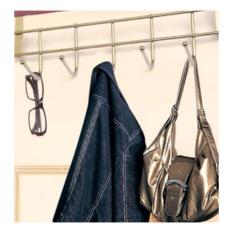 Móc treo quần áo gần cửa bằng inox(Bạc)