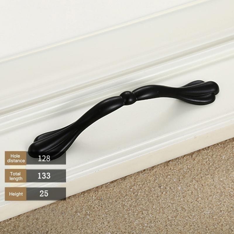 Bảng giá Mua Modern Simple Classic Cabinet Drawer Dresser Cupboard Door Pull Handle Matte Black Finish Specification:Z3-96 - intl