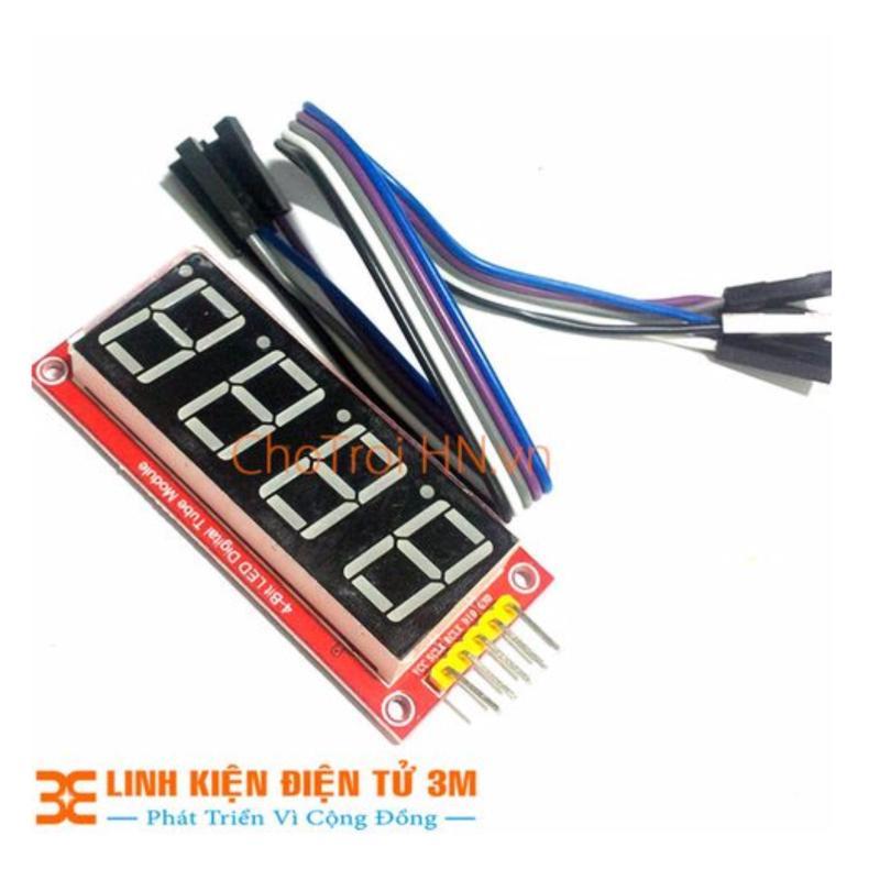Bảng giá Mua Module LED 7 Thanh 4 Số HC595 0.56 inch