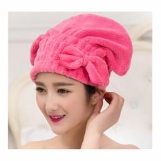 Mũ tóc siêu thấm làm khô tóc cao cấp (Hồng đậm)