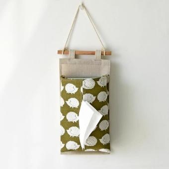 Multi-purpose Car Wall Hanging Storage Bag Napkin Tissue Storage Bag Paper Holder - intl