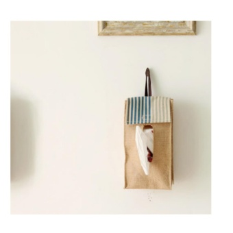 Multi-purpose Cotton Linen Folding Tissue Paper Napkin Storage Holder Box Home Decor - intl