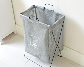 Multi-purpose Dustbin Waterproof Foldable Clothes Laundry Sundry Storage Basket with Stents - intl
