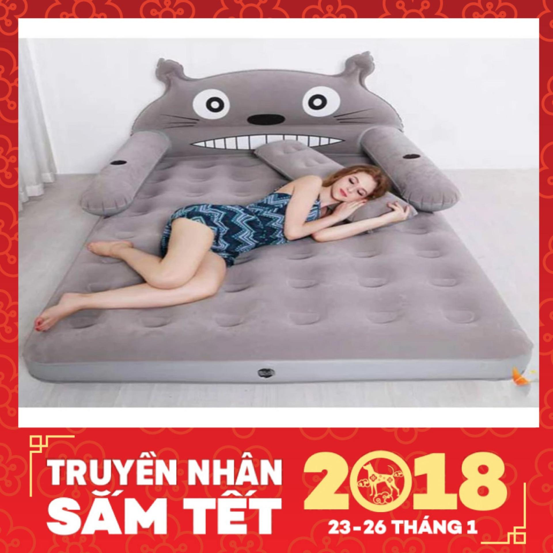 Bộ giường hơi cao cấp hình TOTORO_(Tặng kèm bơm) – Kmart