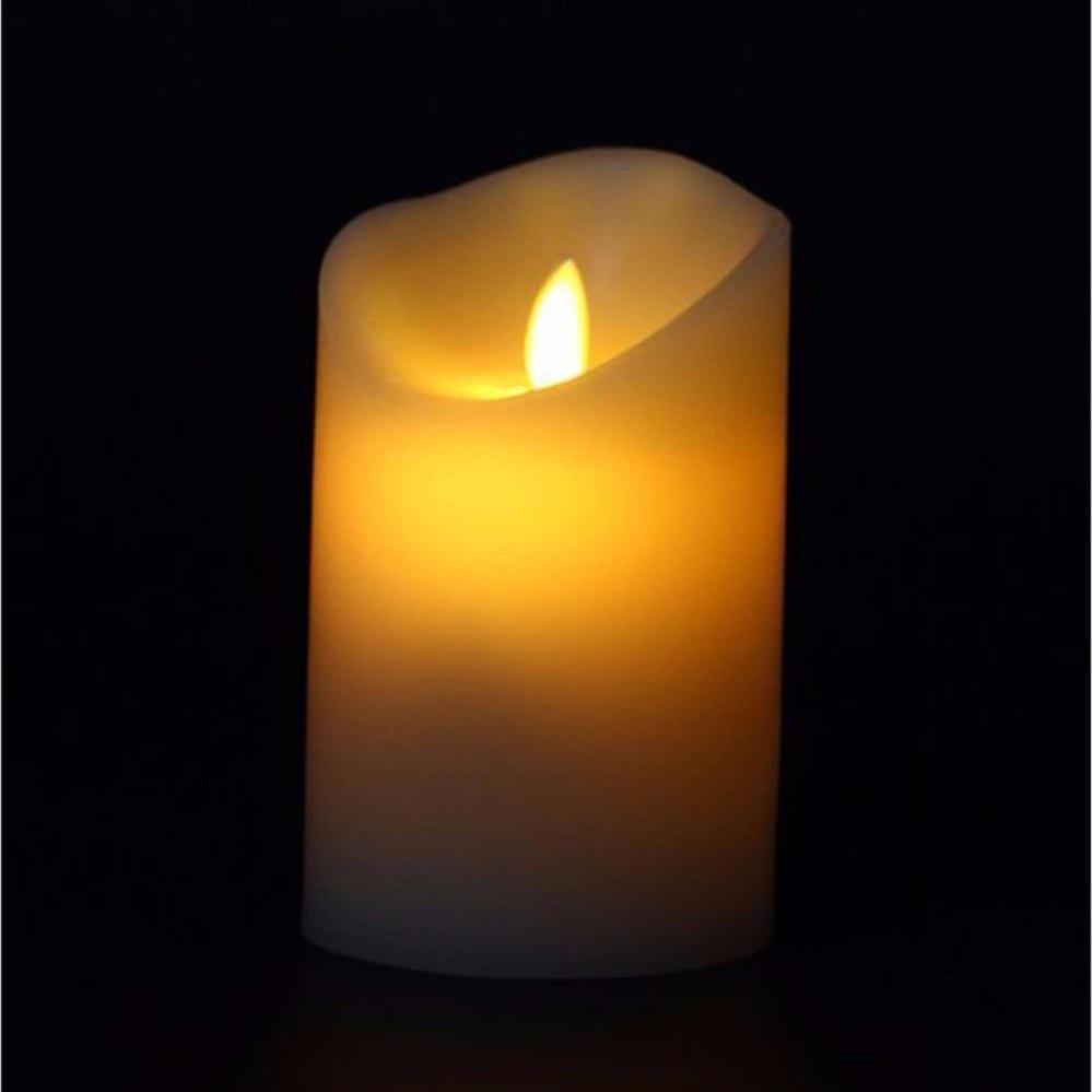 Nến điện tử trang trí đèn Led tiết kiệm pin 5×12.5 cm(gia han shop)
