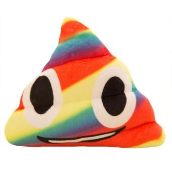 New Amusing Emoji Emoticon Cushion Heart Eyes Poo Shape Pillow Doll Toy Gift - intl