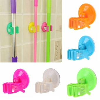 New Wall Mounted Mop Bathroom Holder Hanger Home Kitchen Organizer Tools - intl