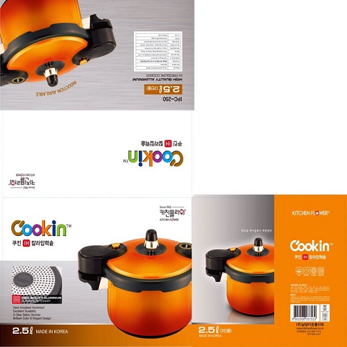 Nồi áp suất Cookin IPC250 2.5 lít (Cam)