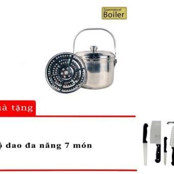 Nồi ủ đa năng LA ANTAR BOILER 5.6L (Bạc) Tặng Kèm 1 Bộ Dao Đa Năng 7 Món