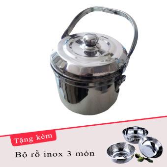 Nồi ủ đa năng LA ANTAR BOILER 5.6L (Bạc) tặng kèm 1 bộ rỗ inox 3món