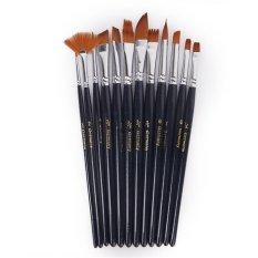 Sợi nylon Cọ Sơn Bộ Nghệ Sĩ Màu Nước Acrylic Tranh Sơn Dầu Cung Cấp 12 Bộ-Quốc Tế
