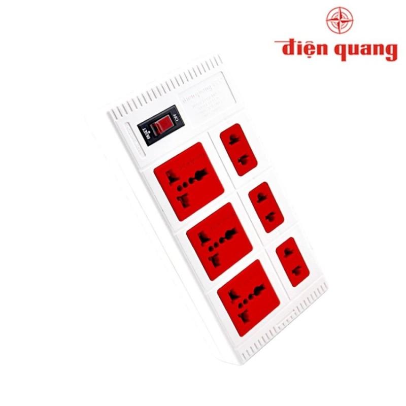 Bảng giá Ổ cắm 6 lỗ 2500W Điện Quang ĐQ ESK 2WR 6ECO (Trắng)