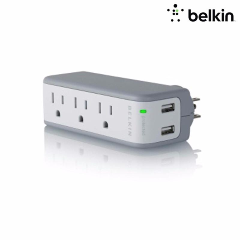 Bảng giá Mua Ổ cắm điện 3 lỗ tích hợp đầu sạc 2 USB 1A Belkin BZ103050thTVL